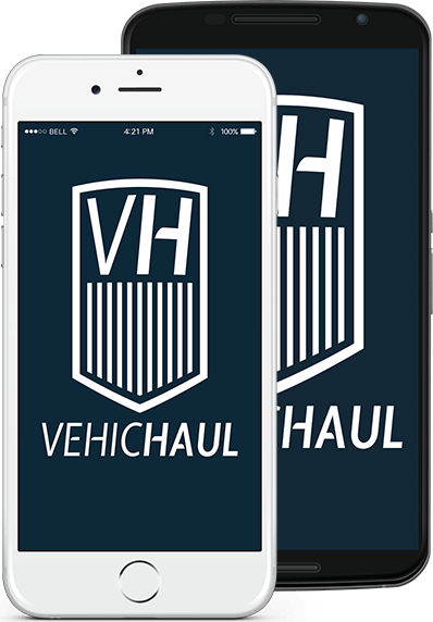 VehicHaul mobile application for iOS and Android | A Product of Backup Parachute